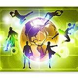 murando - Fototapete Fussball 400x280 cm - Vlies Tapete - Moderne Wanddeko - Design Tapete - Wandtapete - Wand Dekoration – Fußball Sportplatz grün Kindertapete Kinderzimmer Kinder i-A-0093-a-d