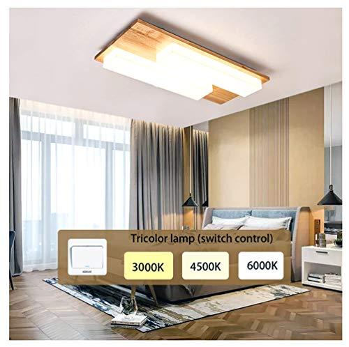 Plafoniera a LED rettangolare in legno, Lampada da Soffitto stile moderno, Azanaz illuminazione creativa in legno, adatta per ristoranti, camere da letto, cucine, corridoi del soggiorno, ecc.