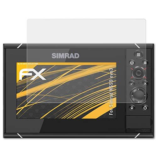 atFoliX Película Protectora para Simrad NSS9 evo3 Lámina Protectora de Pantalla, antirreflejos y amortiguadores FX Protector Película (3X)