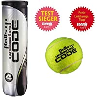 Balls ... unlimited Code Black Tennisbälle - 4er Dose - ITF approved