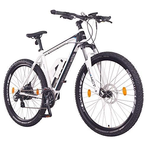 """NCM Prague Bicicleta eléctrica de montaña, 250W, Batería 36V 13Ah 468Wh (Blanco 27,5"""")"""