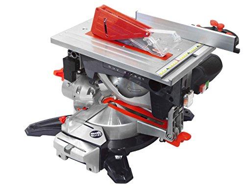 Matrix 210100100 MTS 2050-216 DUO 3 in 1 Säge | Tischkreissäge, Kappsäge, und Gehrungssäge in einem Gerät, 2000 Watt Leistung, Multifunktionssäge, 1800 W, 220 V