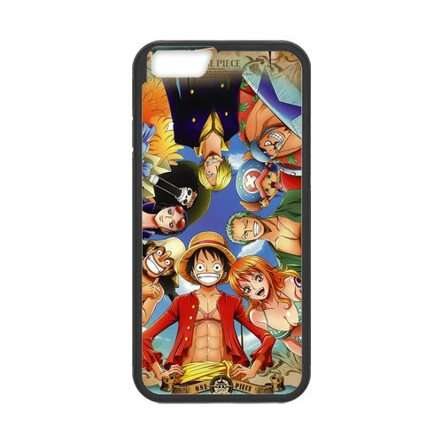 Stylish One Piece design phone Case, One Piece Customized Cover Case for iPhone 6(Blanc/Noir)