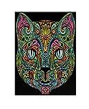 Terciopelo color de 47 x 35 cm 'la cara del gato' Dibujo Sistema de Coloración (grande, Multi-Color)