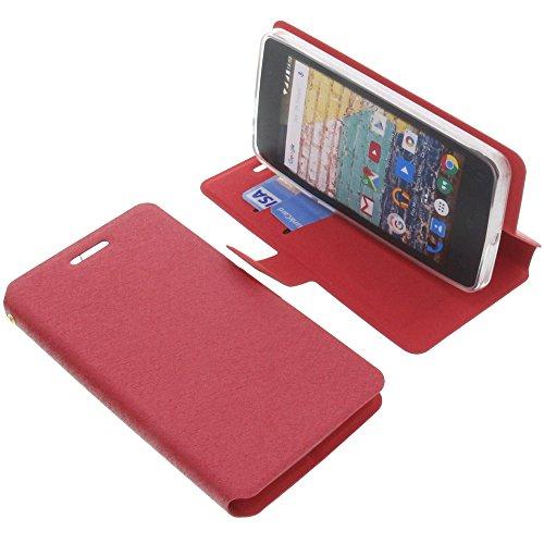 foto-kontor Tasche für Archos 45b Neon Book Style rot Schutz Hülle Buch