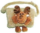 Kindermuff - ' lustiger Elch / Rentier ' - mit extra Tasche - für warme Hände - Kinder - Muff - Tiere - zum Umhängen - für Mädchen und Jungen / wie Handschuh / Handschuhe - Umhängetasche - Elch / Hirsch - Waldtier - Weihnachten