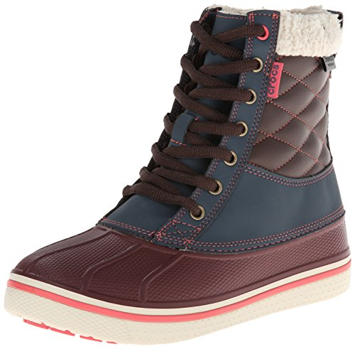Crocs Allcast Waterproof Duck Boot W, Scarpe sportive, Uomo Blu (Nightfall/Coral)