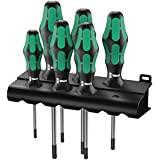 Wera Schraubendrehersatz 367/6 Kraftform Plus TORX® + Rack, 6-teilig, 05028062001
