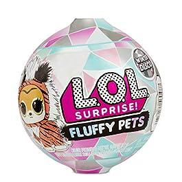 L.O.L. Surprise, Fluffy Pets – boule à neige 9 Surprises dont 1 Fluffy Pets 6cm aux P oils Amovibles, Accessoires…