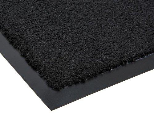 Schmutzfangmatte CANDY - Schwarz - 0,40m x 0,60m | 5 Farben | 5 Größen | 100% Polypropylen | 2.710g/m² | Sauberlaufmatte | Türmatte | Fußmatte | Schmutzfangläufer | Sauberlaufteppich