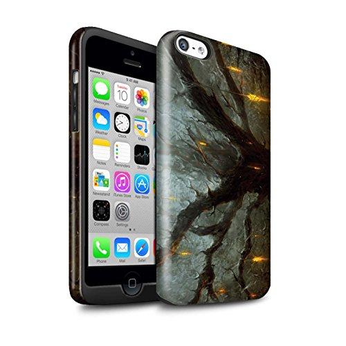 Offiziell Chris Cold Hülle / Glanz Harten Stoßfest Case für Apple iPhone 5C / Pack 8pcs Muster / Gefallene Erde Kollektion Baum des Wissens
