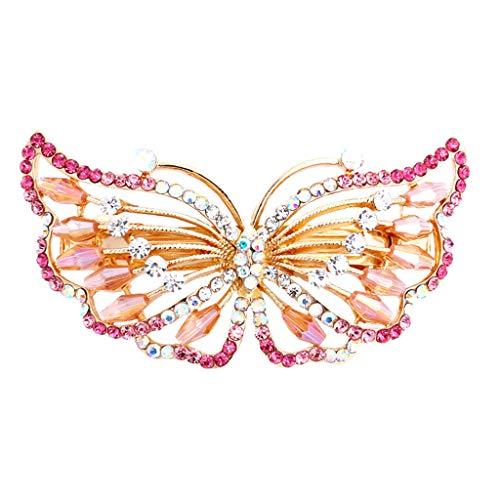 SEWORLD Schicke Frauen Mädchen Exquisite Schmetterling Geformt Strass Haarspange Clip Zubehör Haarschmuck Haarnadel Haarklammer Haar Pins Schmuck Haarschellen Haarnadel Clips(A)