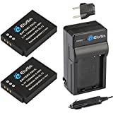 EforTek EN-EL12 Replacement Battery (2-Pack) And Charger Kit For Nikon EN-EL12 And Nikon Coolpix AW100 AW100s AW110 AW110s P300 P310 P330 S31 S70 S610 S620 S630 S640 S800c S1000pj S1100pj S1200pj S6000 S6100 S6150 S6200 S6300 S8000 S8100 S8200 S9050 S9100