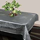 #9: STITCHNEST Plastic Table Cover 40 x 60 Inches, 4 Seater, Grey Table Cover, Pack of 1
