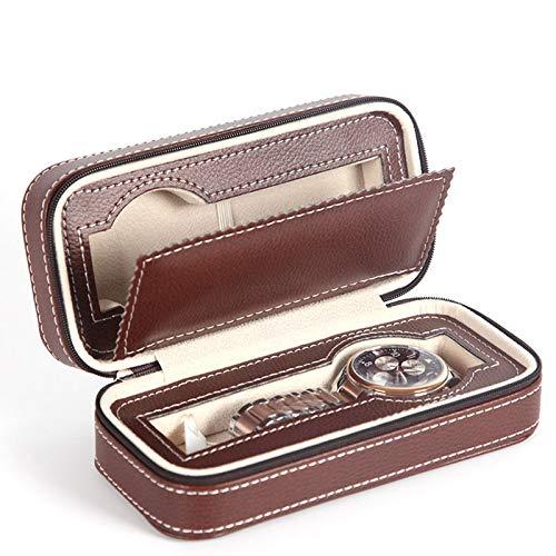 ZREAL Tragbare 2 4 8 Grids Travel Watch Box PU Leder Reißverschluss Aufbewahrungskoffer Uhr Veranstalter - Veranstalter Wand