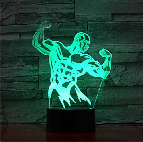 3D Illusion Led Lampada per proiettore 7 colori che cambiano Usb Nightlight Decor For Kids Camera da letto Game Room Luce notturna creativa