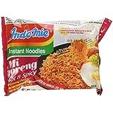 Indo Mie Calentador Fried fideos Mi Goreng Pedas 80g x 5 paquetes