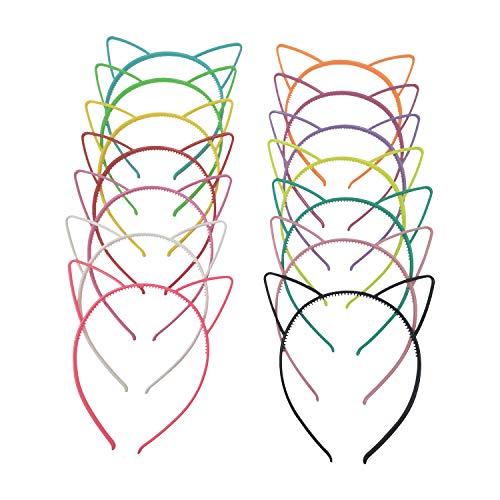 Flying swallow 14 Piezas diademas con orejas de gato de plástico, disfraces o fiestas, mujeres y niñas