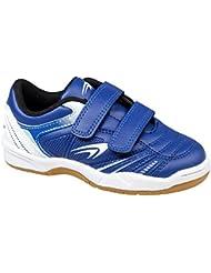 gibra® Niños Deportes Guantes para el gimnasio, con velcro, color azul/blanco, talla 25–36