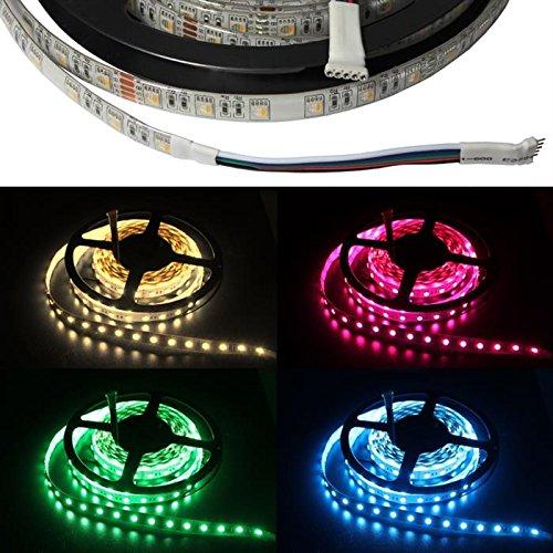 RGBW RGB+W 3000K LED Streifen / LED Strip 4in1 Chip 5m ; IP65 ; 300LEDs ; 24V