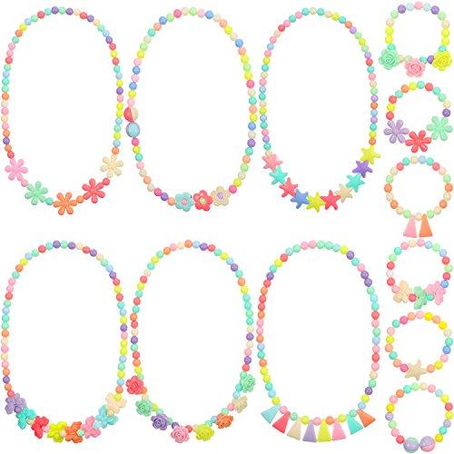skette Armband Kinder Spielen Schmuck Kleine Mädchen Kostüm Halsketten Kleinkind Verkleidung Schmuck (Kleinkind Kostüm-schmuck)