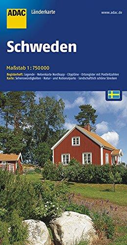 ADAC Länderkarte Schweden 1:750.000 (ADAC Länderkarten): Alle Infos bei Amazon