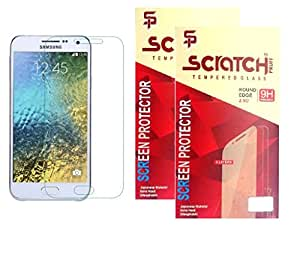 Scratch Pruff Of Tempered Glass For Samsung Galaxy J7 Pack Of 2