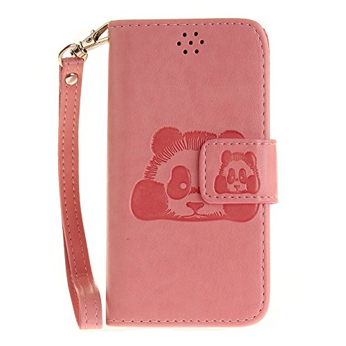 iPhone Case Cover Solid Color 3D Cute Panda Embossed Housse en cuir PU avec Lanyand Card Slots pour iPod Touch 5 6 ( Color : 8 , Size : IPod Touch 5 6 ) 8