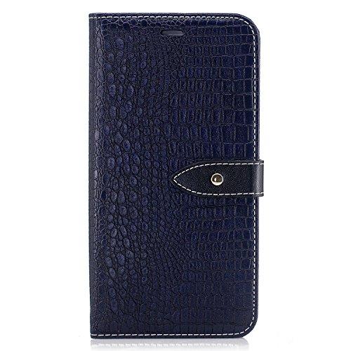 Nancen Wallet Case Hülle für Apple iPhone 6 / 6S (4,7 Zoll) ,Pfeilmarkierung-Magnet ,Krokodilhaut Muster Flip Funktion Kartenfächer Etui ,Schütze Dein Telefon Krokodilmuster-5