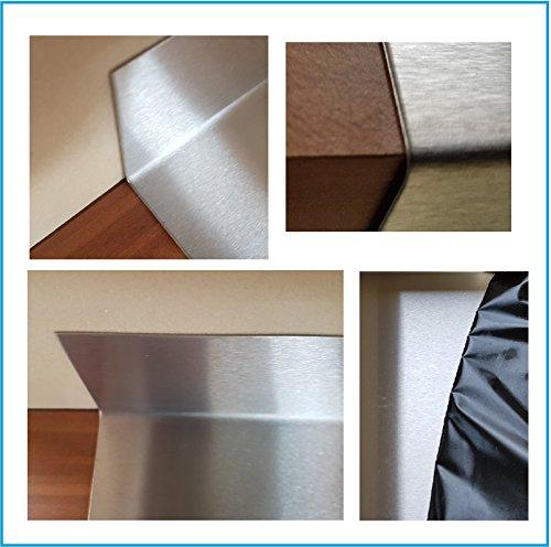Edelstahl Abdeckplatte 15x40x600x50mm 0,8mm für Arbeitsplatte Edelstahltisch Edelstahl...