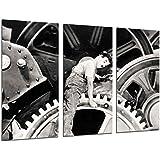 Cuadro Moderno Fotografico Historia Cine Antiguo Hollywood, Charlie Chaplin, Charlot, 97 x 62 cm ref. 26374