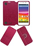 ACM Designer Rotating Flip Flap Case for Micromax Canvas Knight 2 E471 Mobile Cover Pink