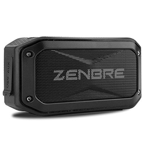 Bluetooth Lautsprecher, ZENBRE D5 Bluetooth 4.1 Outdoor Lautsprecher, 6 W Boom Bass tragbaren robusten Design, wasserdicht gemäß IPX7 Lautsprecher, Sport Lautsprecher mit 40h Spielzeit (Schwarz)