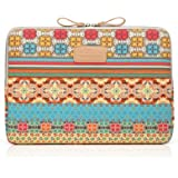 Kayond New Bohemian Style Canvas Fabric Ultraportable Neoprene laptop / Notebook Computer / MacBook / Macbook Air/MacBook Pro Sleeve Case Bag cover (13-13.3, Yellow Bohemian)
