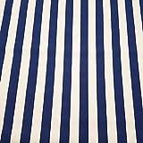 Stoff Meterware Markisenstoff Blockstreifen blau weiß