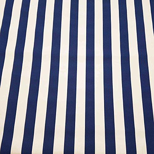 Stoff Meterware Markisenstoff Blockstreifen blau weiß gestreift UV beständig Sichtschutz - Stoff Gestreiften Weiß Blau Und