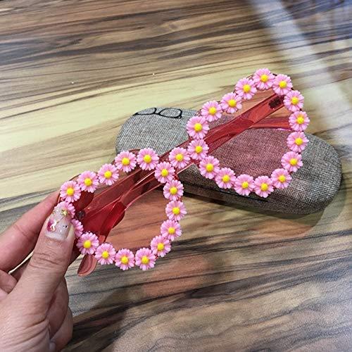 YLNJYJ Sonnenbrillen Liebe Herzform Sonnenbrille Frauen Randlose Rahmen Tönung Klare Linse Süße Sommer Sonnenbrille Rot Rosa Gelb Shades Frauen Rei