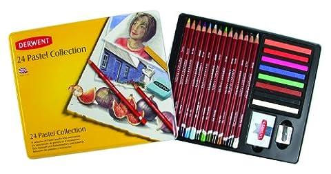 Derwent Collection Pastels Boîte métal de 24 (Import Royaume Uni)