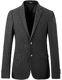 Caballero estilo personalizado Lana Gris para hombre Trajes de Slim Fit Blazer traje formal Hombres de Blazers y chaquetas