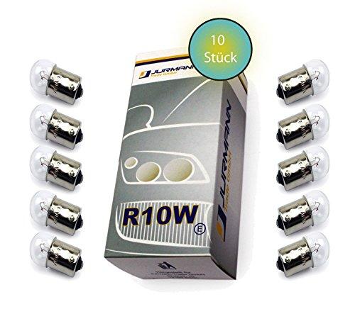 Preisvergleich Produktbild Jurmann Trade GmbH® 10x Stück R10W 12V 10W BA15S Blinkleuchte Halogen Lampen Autolampen KFZ-Beleuchtung Birne