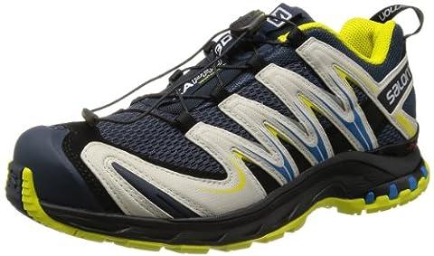 Salomon Xa Pro 3D, Herren Sneakers, Grau/Neongelb/Blau, 41 EU