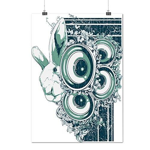 rabbit-music-system-bunny-beats-matte-glossy-poster-a4-30cm-x-21cm-wellcoda