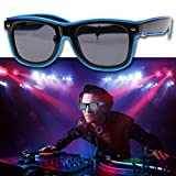 ecotrumpuk EL Herzförmige Brille Night Club Party Ball Luminous Gläser