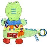 Amazemarket Baby beschwichtigen Handtuch Rassel Krokodil Beißring Krippe Kinderwagen ausgestopft Tier Neugeborenes Intelligenz lehrreich Plüsch Spielzeuge (Krokodil)