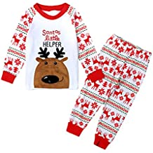 3f239dfa20791 Little Hand Ensembles Pyjama Enfant Fille Noel Renne Costume Manches Longue  1 2 3 4 5