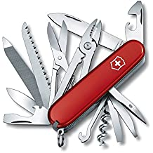 Victorinox Handyman - Navaja suiza con 24 funciones de acero inoxidable, color rojo