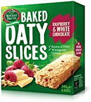 Mother Earth Oaty Slices Raspberry & White Chocolate Bars - 240 g