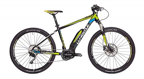 Whistle 'Mountain Bike eléctrica ebike Yonder Motor Yamaha PW-x 400 WH 10 Velocidad Color Negro/Amarillo Tamaño S 16 (155 – 170 cm)