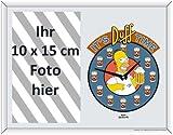 Homer Clock Bedruckter Spiegel als Tisch- oder Wandfotorahmen<br>für Fotos bis 10x15 cm