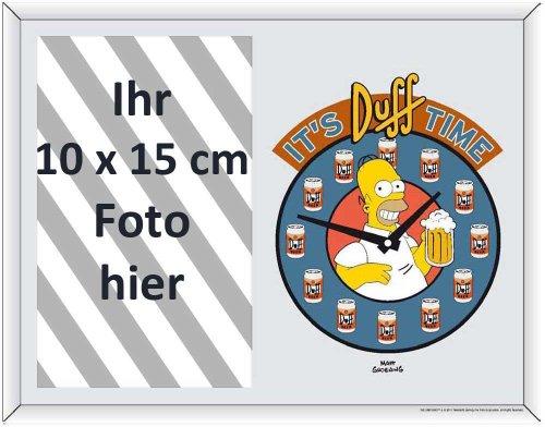 empireposter - Simpsons, The - Homer Clock - Fotorahmen - Größe (cm), ca. 22,8x17,8 - Spiegel Fotorahmen, NEU - Beschreibung: - Bedruckter Spiegel als Tisch- oder Wandfotorahmen, geeignet für Fotos mit einer maximal Grösse von 10x15 cm. -